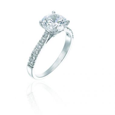 Gumuchian Bridal Platinum Diamond Semi-Mount Engagement Ring