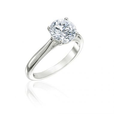 Gumuchian Bridal Platinum Solitaire Semi-Mount Engagement Ring