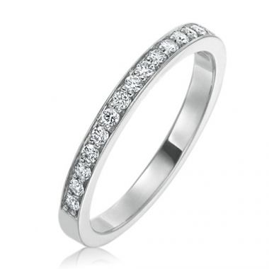 Gumuchian Bridal Platinum Cinderella Diamond Wedding Band