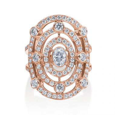 Gumuchian 18k Pink Gold Diamond Carousel Ring