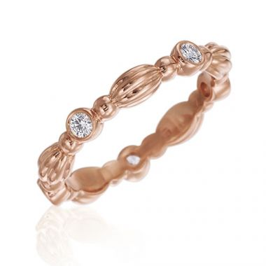Gumuchian Nutmeg 18k Rose Gold Diamond Stackable Band
