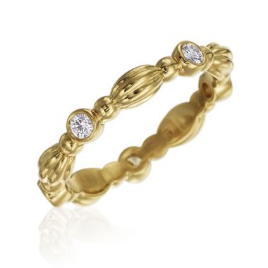 Gumuchian 18k Yellow Gold 0.21ct Diamond Ring