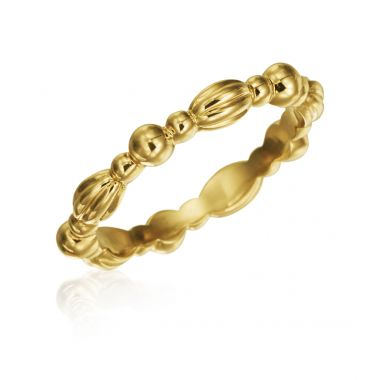Gumuchian 18k Yellow Gold Nutmeg Stackable Band