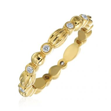 Gumuchian Nutmeg 18k Yellow Gold Diamond Stackable Band