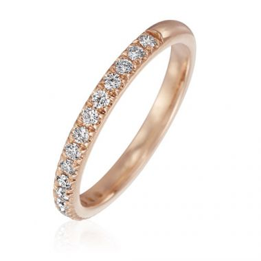 Gumuchian Bridal 18k Rose Gold Cinderella Diamond Wedding Band