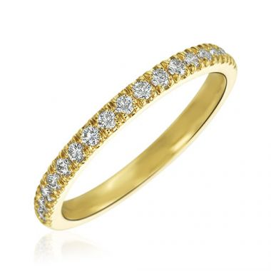 Gumuchian Bridal 18k Yellow Gold Cinderella Diamond Wedding Band