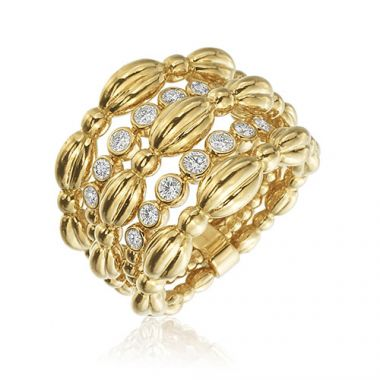 Gumuchian Nutmeg 18k Yellow Gold Diamond Ring