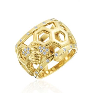Gumuchian 18k Yellow Gold Honeybee