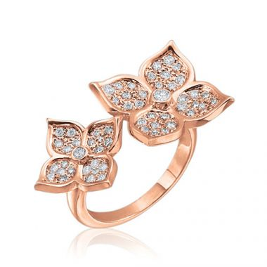 Gumuchian G. Boutique 18k Rose Gold Diamond Lotus Ring