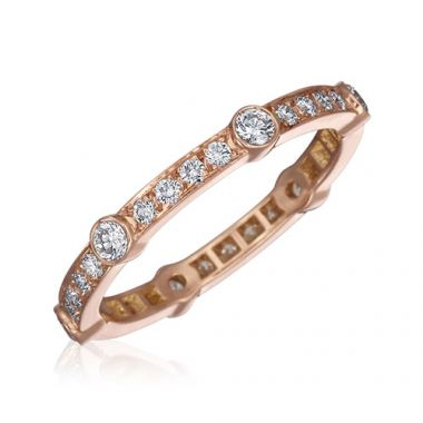 Gumuchian Carousel 18k Rose Gold Diamond Wedding Band