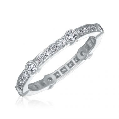 Gumuchian Carousel Platinum Diamond Wedding Band