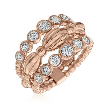 Gumuchian Nutmeg 18k Rose Gold Diamond Ring