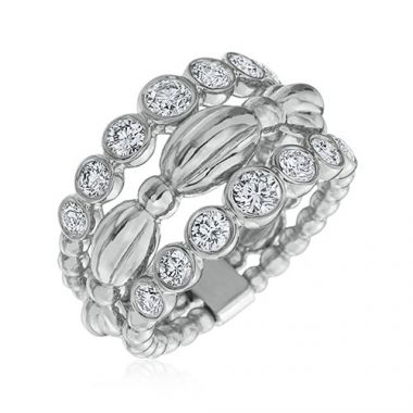 Gumuchian Nutmeg 18k White Gold Diamond Ring
