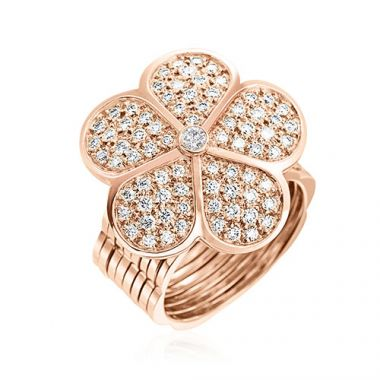 Gumuchian G. Boutique 18k Rose Gold Diamond Daisy Transforming Ring to Bracelet