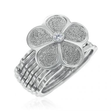 Gumuchian G. Boutique 18k White Gold Diamond Daisy Transforming Ring to Bracelet