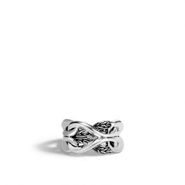 John Hardy Sterling Silver Classic Chain Ring