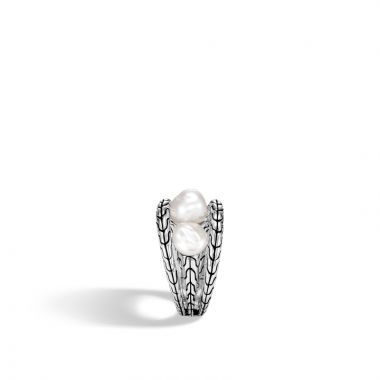 John Hardy Sterling Silver Classic Chain Pearl Ring