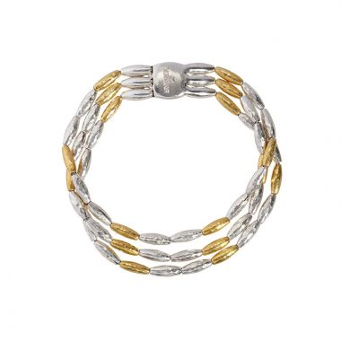 Gurhan Wheat Two-Tone Sterling Silver Precious Metal Bracelets
