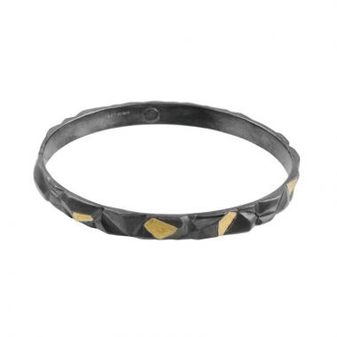 Gurhan Century Two-Tone Sterling Silver Bangle Bracelet