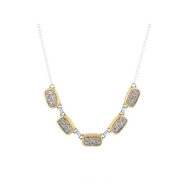Gurhan Spell Two-Tone Sterling Silver Gemstone Necklace