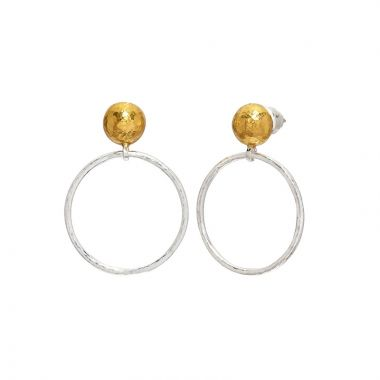 Gurhan Hoopla Two-Tone Sterling Silver Drop Earrings