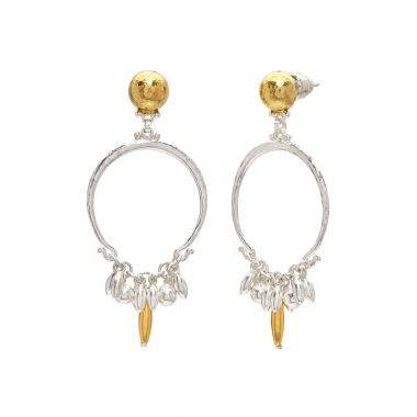 Gurhan Flurries Two-Tone Sterling Silver Hoop Earrings