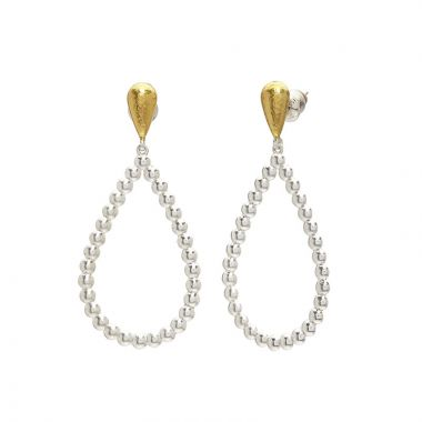 Gurhan Caviar Two-Tone Sterling Silver Drop Earrings