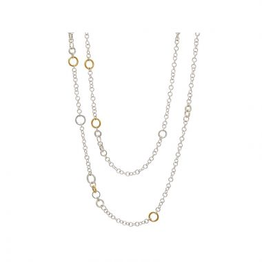 Gurhan Hoopla Two-Tone Sterling Silver Necklace