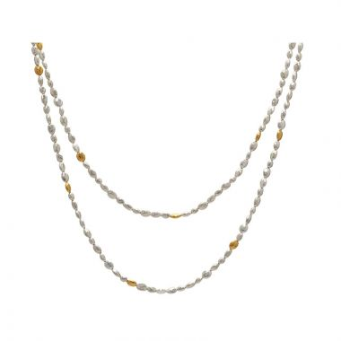 Gurhan Nugget Two-Tone Sterling Silver Necklace