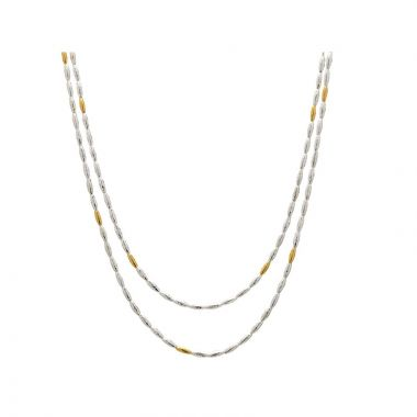 Gurhan Wheat Two-Tone Sterling Silver Necklace
