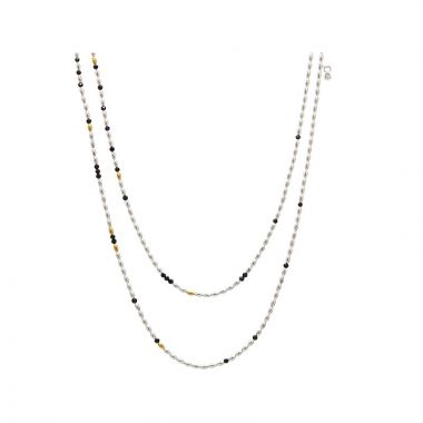 Gurhan Olive Two-Tone Sterling Silver Necklace