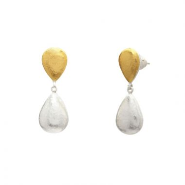 Gurhan two tone drop earring